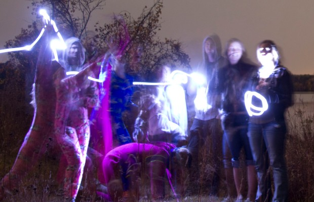 Or do a prolonged exposure on your camera and try a few light paintings