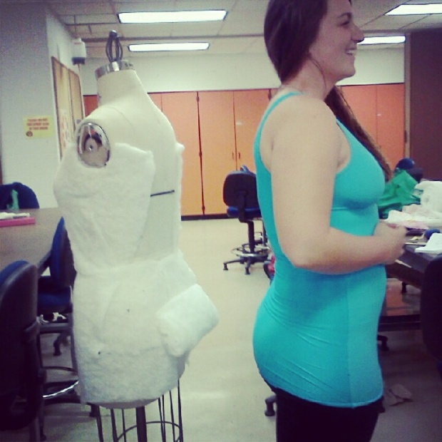 Its easier to work on mannequins, especially if you are draping. I had to add some junk to my mannequin's trunk in order for it to fit me :)